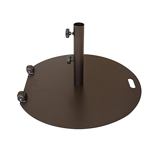 Abba Patio Umbrella Outdoor Base Heavy Duty Steel Outdoor Market Umbrella Base Stand,55 lb with Wheel