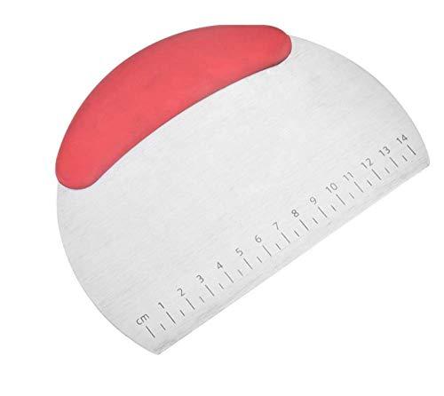 Raspador de masa, raspador profesional de parrilla de masa de masa de acero inoxidable con escala-Red