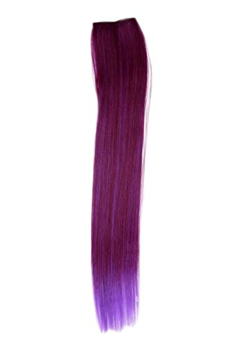WIG ME UP - Extension mèche 2 clip lisse mélange rouge-violet 45 cm / 18 inch YZF-P2S18-T2315TT3533
