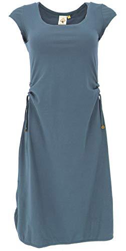 GURU SHOP Wandelbares Midikleid aus Bio-Baumwolle, Schmales Kleid Organic, Majolica, Size:M (38), Lange & Midi-Kleider Alternative Bekleidung