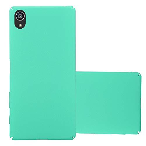 Cadorabo Funda para Sony Xperia Z5 en Frosty Verde - Cubierta Protección de Plástico Duro Super Delgada e Inflexible con Antichoque - Case Cover Carcasa Protectora Ligera
