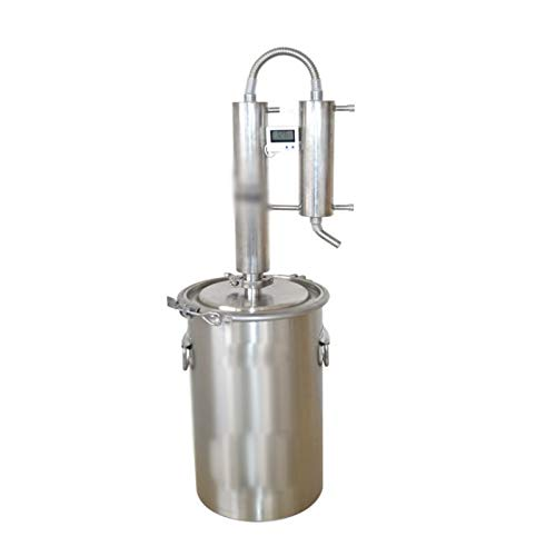 LSGMC Destilliergerät, 12L Haushalts-reinwasserbrenner Maschine Destilliertes Wasser Destillationsreiniger Filter Edelstahl.