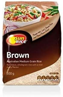 Sunrice Brown Medium Grain Rice 500gm
