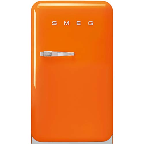 Smeg Right Hand Hinge FAB10ROR2 Fridge with Ice Box - Orange - A++ Rated
