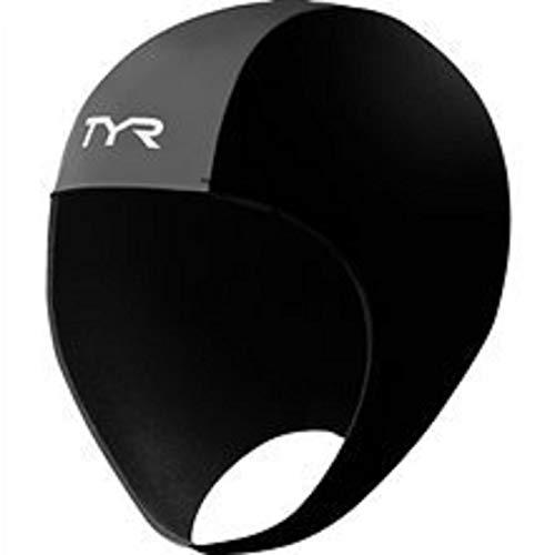 TYR 1THEL6AL Neoprene Swim Cap, Black, Large