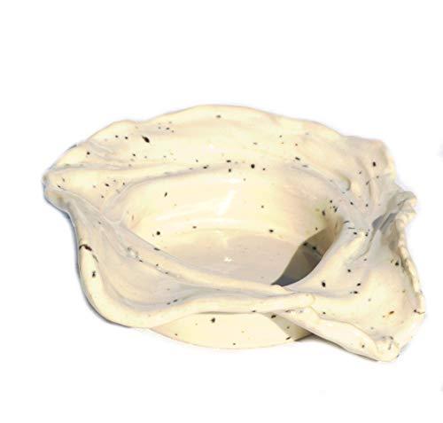 Keramunzel Schale weiße Lava - Schale für Schmuck Schlüssel Kleinkram Kekse Pralinen Bonbons - Keramik zum Schmunzeln frech und wunderschön Manufaktur bien-Art