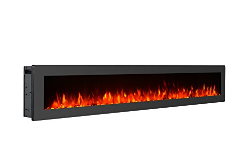 GMHome 60 Inches Wall Mounted Electric Fireplace Freestanding Heater Crystal...