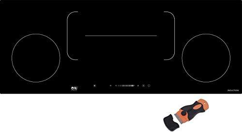 Built-in Induction Hob 90cm 4 Cooking Zone Flex Area Black Glass Sensor NJ-I90