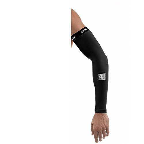 Santini - Totum Leg Warmer, Color Blanco, Talla XS/S
