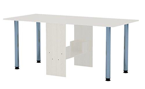 Rodnik Esstisch 174 x 80 x75 cm - ausklappbar - weiß - Klapptisch - Tisch klappbar - Bürotisch - Funktionstisch