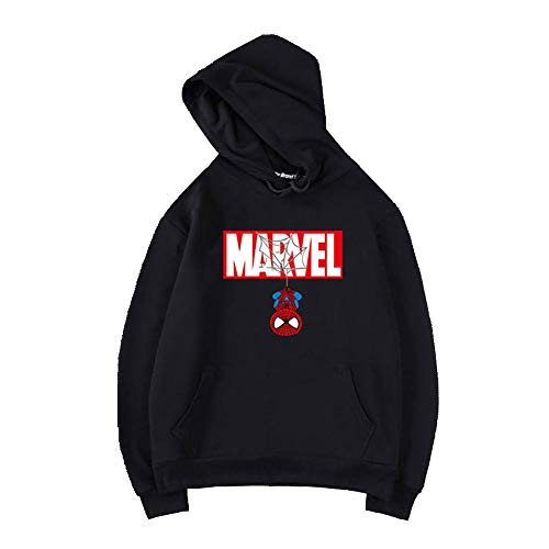 Spider-Man Unisex Sweats à Capuche Sweat-Shirts Manches Longues Pullover G-M