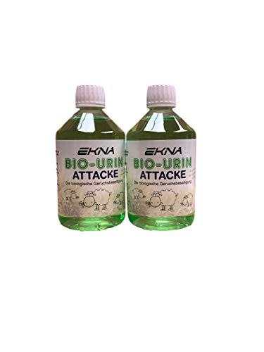 EKNA Bio-Urine Attack - Désodorisant Biologique   Désodorisant pour odeurs et Urine d'animaux   Sélection 500ml 1000ml   Made in Germany (2x500ml)