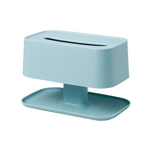Caja para Pañuelos Caja de pañuelos de plástico en casa Bandeja de Mesa de café Sala de Estar Comedor Servilleta Caja de Almacenamiento Caja de Papel Simple Caja de Pañuelos (Color : Chrome)