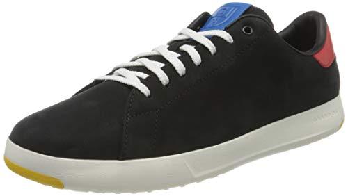 Cole Haan Men's Grandpro Tennis Sneaker Black Nubuck/Flame/Blue, 11 (UK)