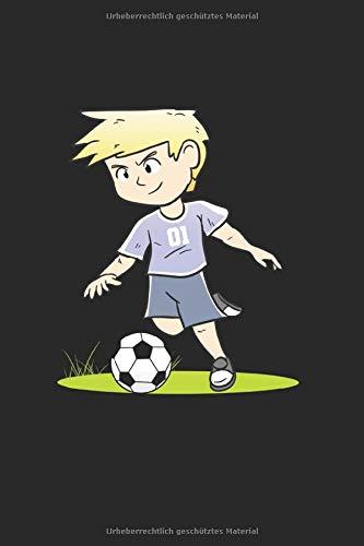 Fußball Notizbuch: Fußballer Notizbuch Für Kinder, Tolles Fusballspieler Geschenk Für Fusball Jungen - A5 Mit 120 Linierten Seiten