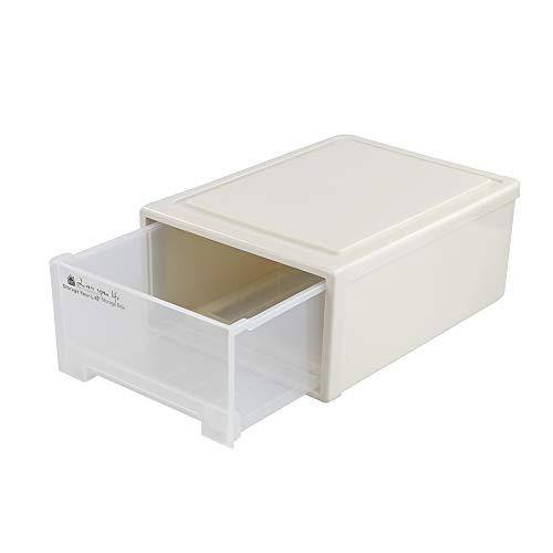 Ucake 19,5 Litros Caja Organizador Apilable de Almacenamiento para Armario, 1 Paquete