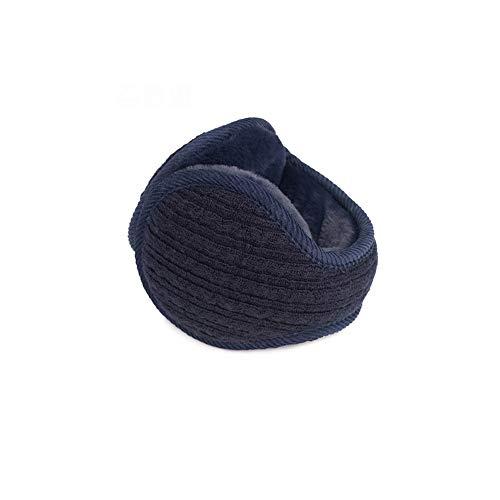 LHTCZZB Plegable portátil orejeras poliéster espesado de imitación de piel suave y caliente de las rayas verticales de cuadrícula de invierno a prueba de viento y frío del oído Protección Artefacto de