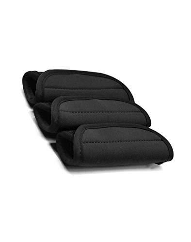 Pack of 3 Neoprene Luggage Handle Wrap/Handle Grip/Luggage Identifier for Travel Bag Luggage Suitcase (BLACK)