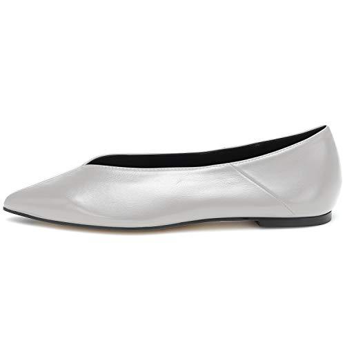 MOCORALS Grey Matte Bed STU Slip On Shoes for Women Size 5.5