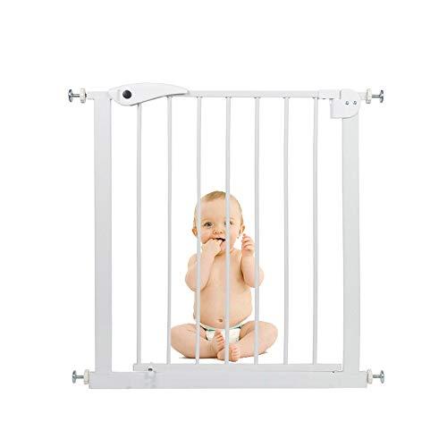 Xyanzi- Pressure Fit Safety Gate Walk Thru Baby Gate,Extending Metal Safety Gate Walk Thru Baby Gate with Pressure Mount with 26-28'/30-32' Extension Fits 29.92' High (Size : 65-72cm)
