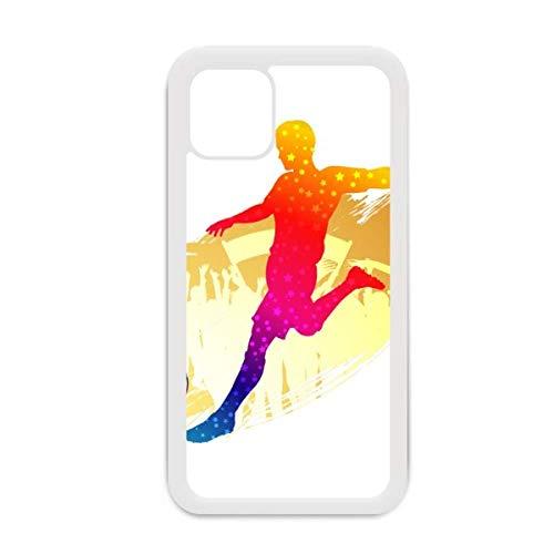 Carcasa para iPhone 12 Pro Max, diseño de atletas de fútbol