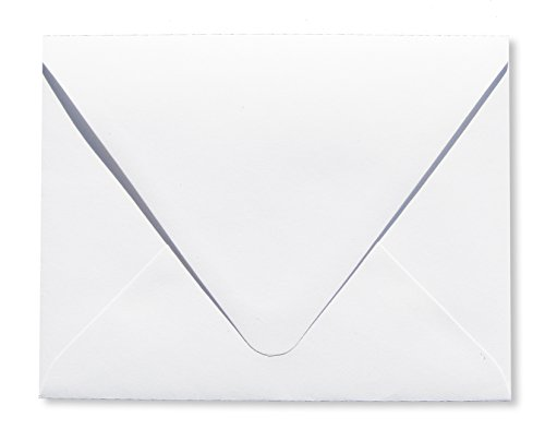 Contour Euro Flap Bright White 150 Boxed 70lb A7 Envelopes (5 1/4 x 7 1/4) Perfect for 5 x 7 Invitations, Announcements, Weddings by The Envelope Gallery
