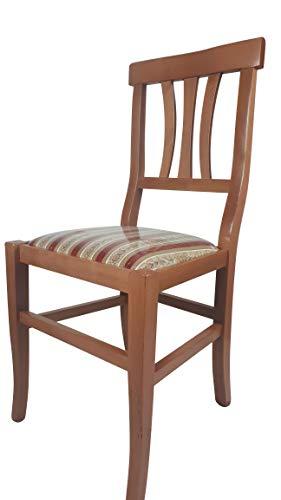 Sedia Arte Povera, qualità Top, Diverse sedute e colorazioni, Ordine Minimo 2 Pezzi (Miele, Imbottita Rossa)