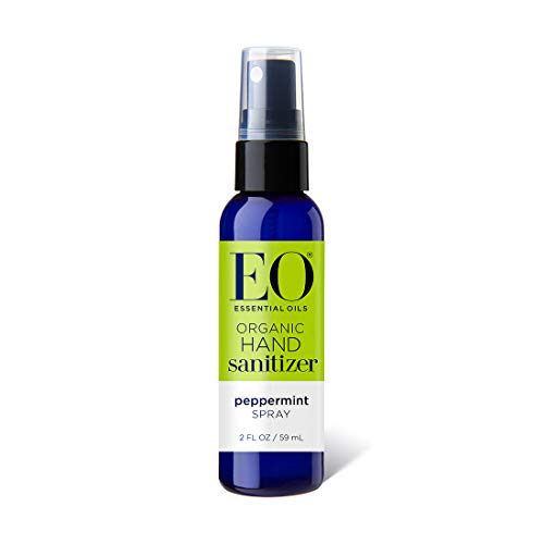 EO Hand Sanitizer Spray- Organic Peppermint, 2-Ounce (pack of 2)