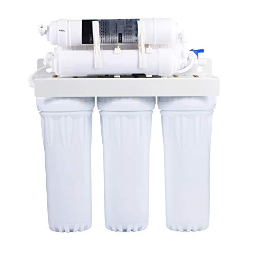 Drinking Water Filter,6 Stage Water Purifier Filter Under-Sink Reverse Osmosis Drinking Water Filtration System Fountain Home with Alkaline Remineralization Filter