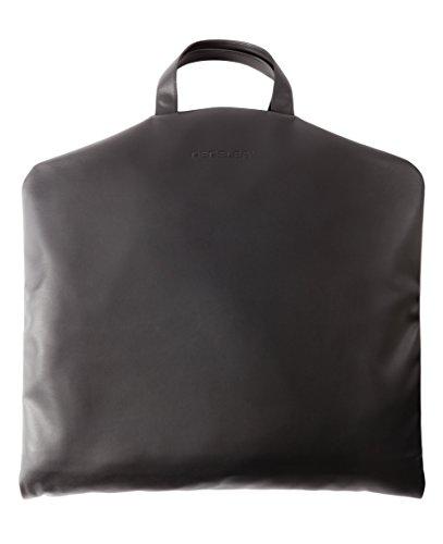 Leder-Kleidersack für Anzüge |Kleiderschutz-Hülle handgefertigt | exklusives schwarzes Leder | Kabinengepäck für Flugzeug-Reisen | SkyHanger® DEGELER Anzugtasche & Garment bag als Handgepäck
