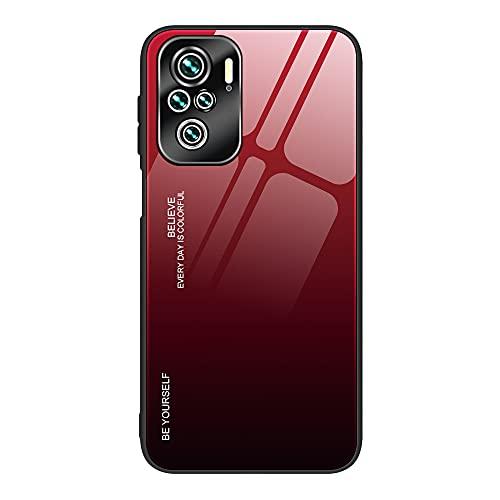 Xiaomi Redmi Note 10 Pro用 背面強化ガラス ケース/カバー背面カバー シャオミ 小米 リドミーノート10 プロ かっこいい スリムなケース おしゃれ アンドロイドカバー(E)
