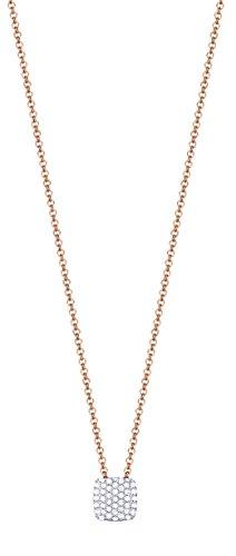 ESPRIT Damen-Erbskette Glam Square 925 Silber rhodiniert Zirkonia weiß Rundschliff 42 cm - ESNL93126C420