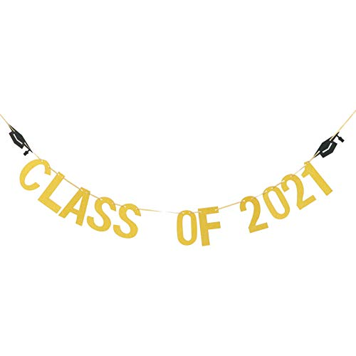 WINOMO Class of 2021 Banner Graduation Party Decorative Banner Party Garland Graduation Decor Party Decorative Banner 1pc