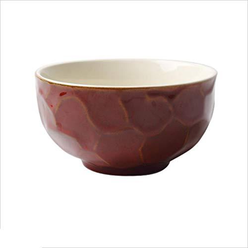 Bols à céréales Bol en céramique Creative Vaisselle Salade de fruits Maison Rice Dessert Bol à soupe 5 pouces (Couleur : Red)