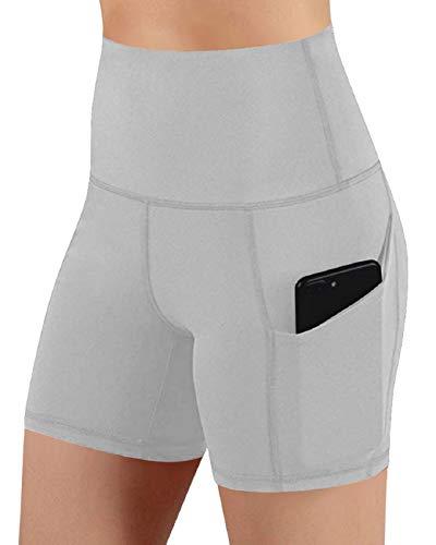 Tuopuda Leggings Donna Fitness Pantaloncini Sportivi Vita Alta Fitness Yoga Shorts con Tasca Laterali Pantaloni Corti Leggins Elasticizzati Corsa Palestra Jogger Sport