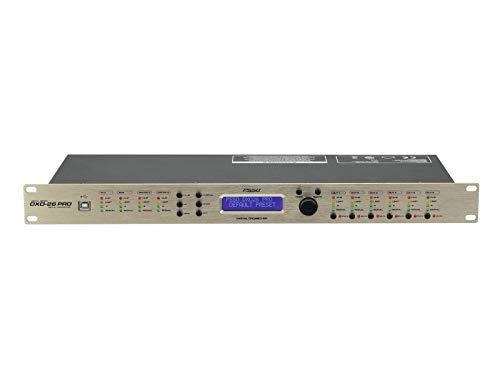 PSSO DXO-26 PRO Digitaler Controller | Digitales Lautsprechermanagementsystem mit Echtzeit-Netzwerksteuerung, 2 Eingänge und 6 Ausgänge