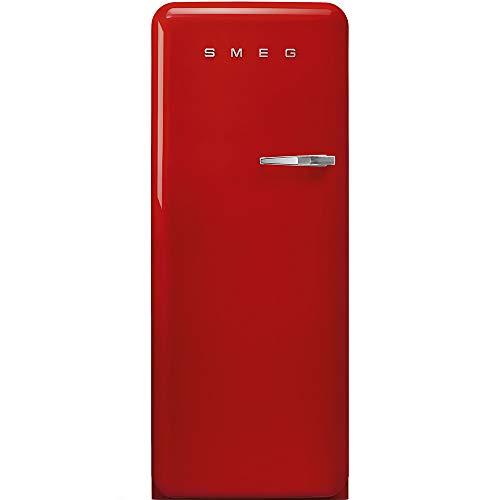 Smeg - FAB28LRD3 Kühlschrank mit einer Tür und einem roten Finish, 60 cm, Scharnier links.
