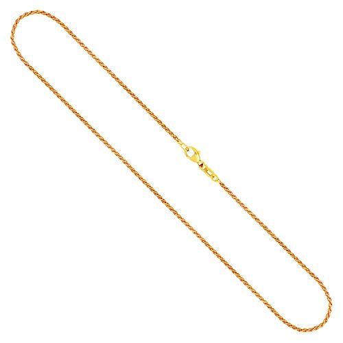 Goldkette, Zopfkette Gelbgold 333/8 K, Länge 45 cm, Breite 1.7 mm, Gewicht ca. 4.1 g, NEU