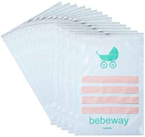 Bebeway 14 Bags with Baby Hospital Changing Bags Baby Clothes Bags Transparent Made in Italy Hypo-allergenic Anti-mould Folding Envelopes
