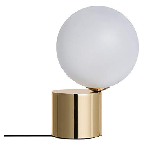 Lampara Mesilla de Noche La simplicidad moderna lámpara de mesa de cristal redonda creativa Inicio Mini lámpara de escritorio elegante dormitorio botón del interruptor de la lámpara de noche Lámpara d