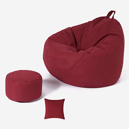 Wsaman Großer ergonomischer, abnehmbarer, wandelbarer Gaming-Stuhl, tragbares Sofa mit EPS-Teilchenfüller, Griff für Erwachsene und Kinder, 1 m