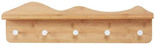 Kapstok Planken Hat wandkapstokken Met Shelf Entree Woonkamer Slaapkamer Hooks hangers (Size : 61.2X17cm)
