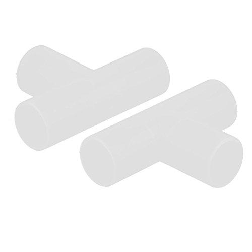 Plastique Y en forme de Connecteurs Tube Tuyau Pipe Fit Coupleur Menuisier eau Splitter 1X