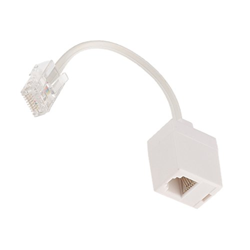 Gazechimp Cable Flash de Teléfono Red Línea Extension Jack RJ45 to RJ11 Jack
