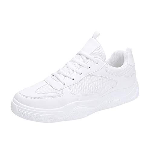 Cebbay Chaussures De Sécurité pour Hommes Nouveau Léger Athlétique Running Jogger Chaussures De Fitness Flats Chaussures Casual Sneaker Homme Respirant Chaussures d'escalade(Blanc 1,41 EU)