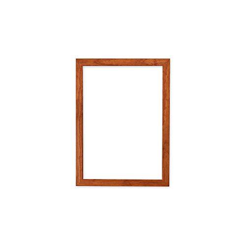 Bilderrahmen für Bilder, Fotos, Poster, zum Aufhängen oder Aufstellen, mit MDF-Rückwand, transparentes, bruchsicheres Plexiglas, 20 mm, holz, braun (teak), A4