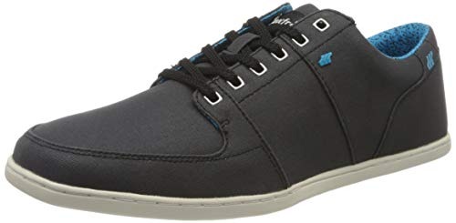 Boxfresh Herren Spencer Sneaker, Schwarz (Black/Blue Baa), 43 EU
