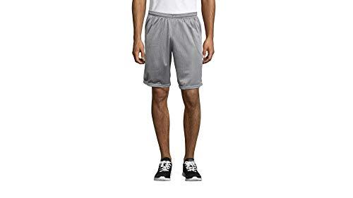 Hanes Men's Sport Mesh Pocket Short, Athletic Gray, Small