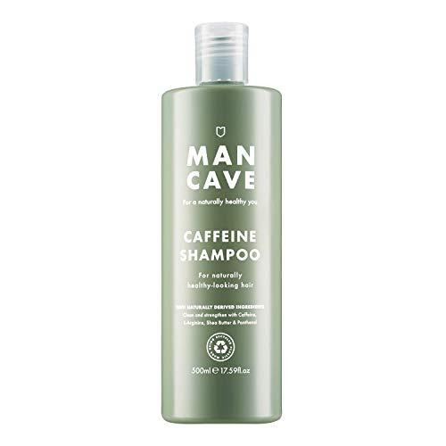 ManCave Champú de cafeína 500 ml – fomenta naturalmente el crecimiento saludable del cabello