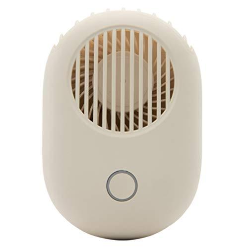 SODIAL Ventilador de Bolsillo PortáTil USB Recargable Aire Fresco RefrigeracióN de Viaje de Mano Enfriador de Aire Ventiladores Blanco